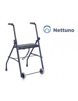 Rollator pieghevole in acciaio verniciato - 2 ruote con seduta - NETTUNO